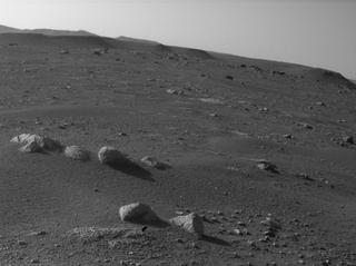 View image taken on Mars, Mars Perseverance Sol 9: Rear Left Hazard Avoidance Camera (Hazcam)
