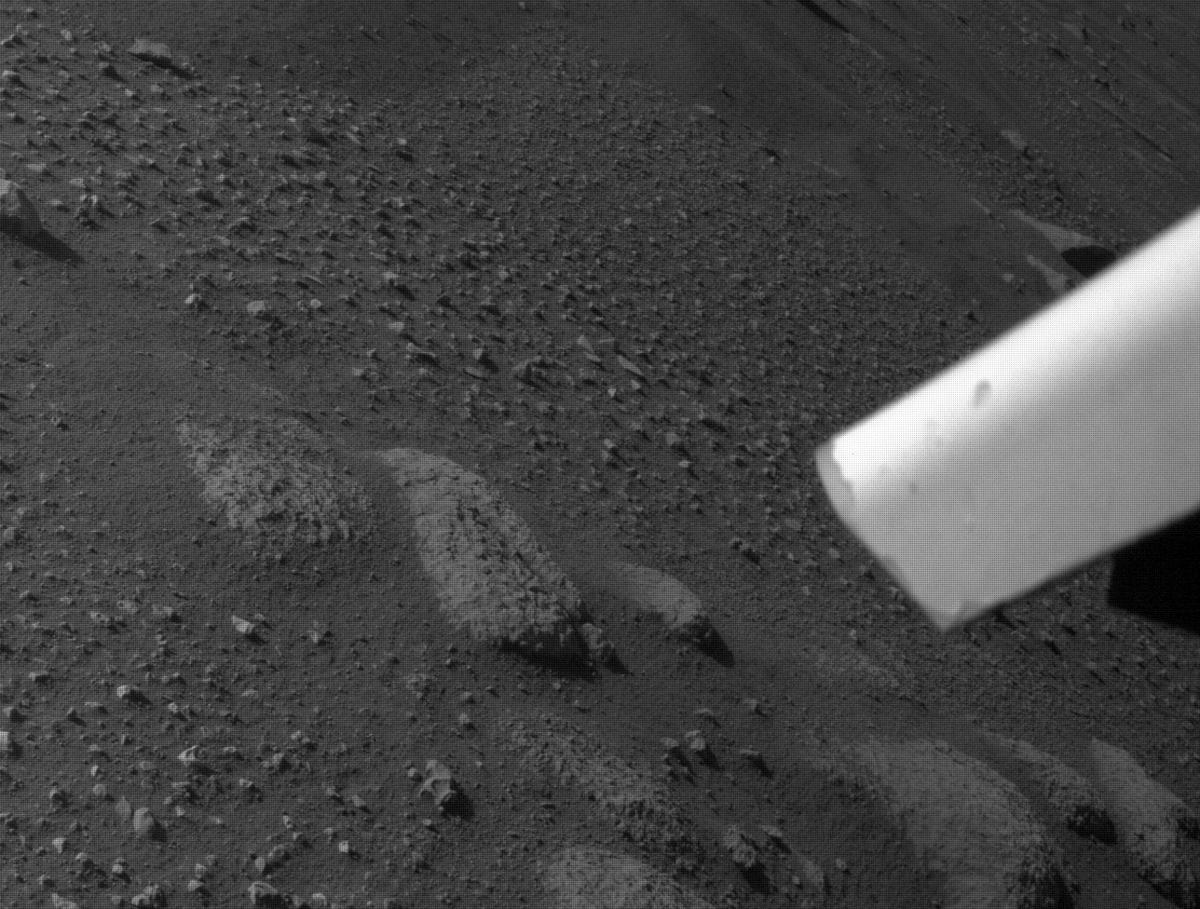 This image was taken by REAR_HAZCAM_LEFT onboard NASA's Mars rover Perseverance on Sol 9