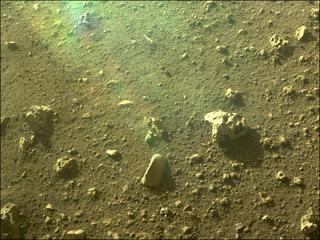 View image taken on Mars, Mars Perseverance Sol 9: Rear Left Hazard Avoidance Camera (Hazcam)