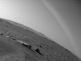 View image taken on Mars, Mars Perseverance Sol 9: Rear Right Hazard Avoidance Camera (Hazcam)