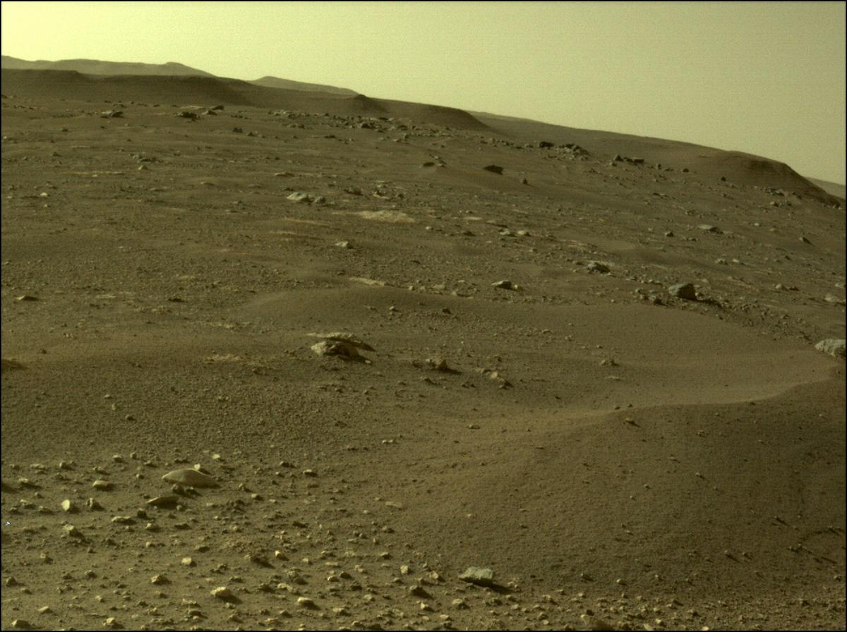 This image was taken by REAR_HAZCAM_RIGHT onboard NASA's Mars rover Perseverance on Sol 9