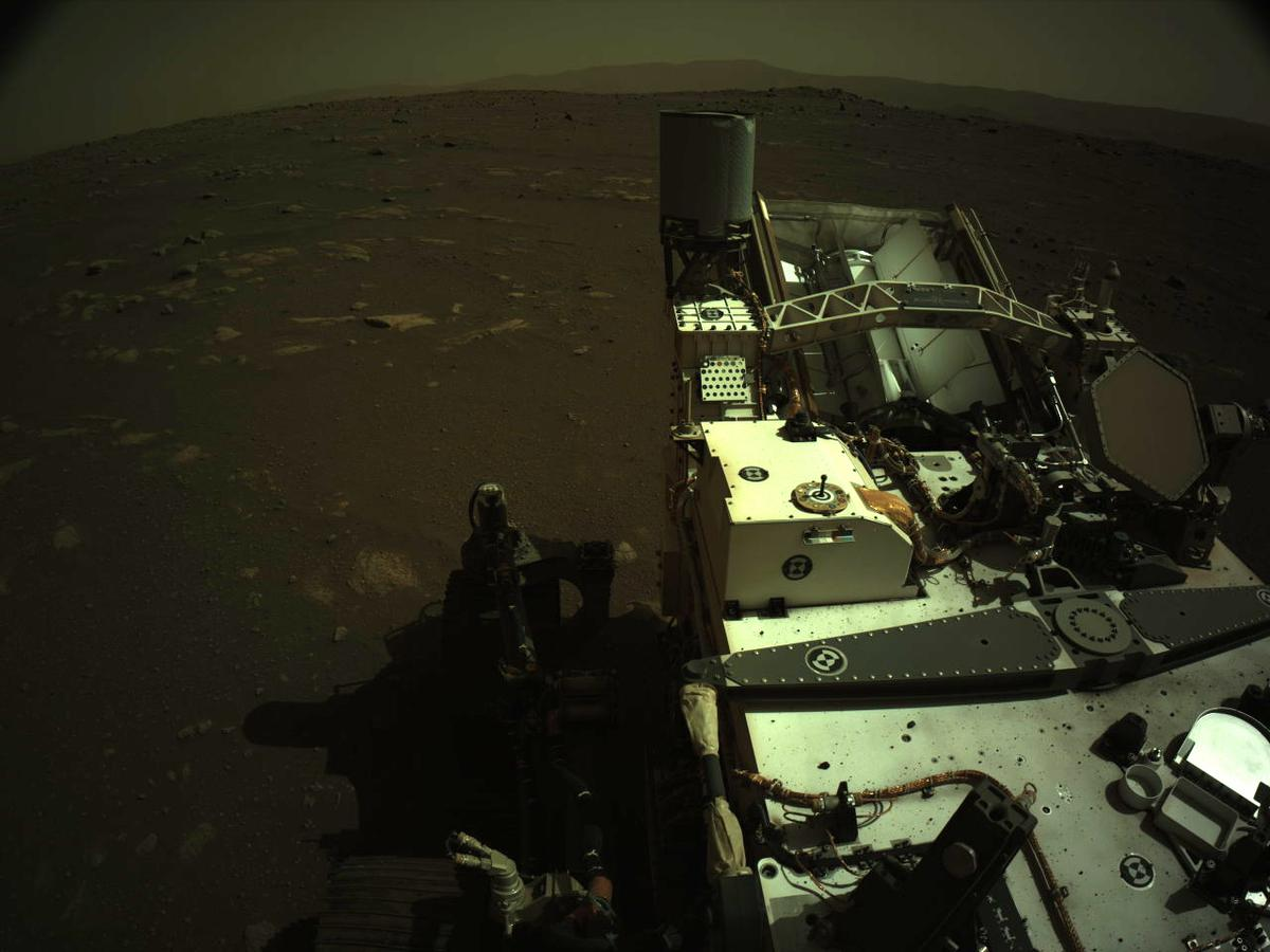 This image was taken by NAVCAM_LEFT onboard NASA's Mars rover Perseverance on Sol 14