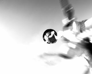 View image taken on Mars, Mars Perseverance Sol 16: Parachute Up-Look Camera B