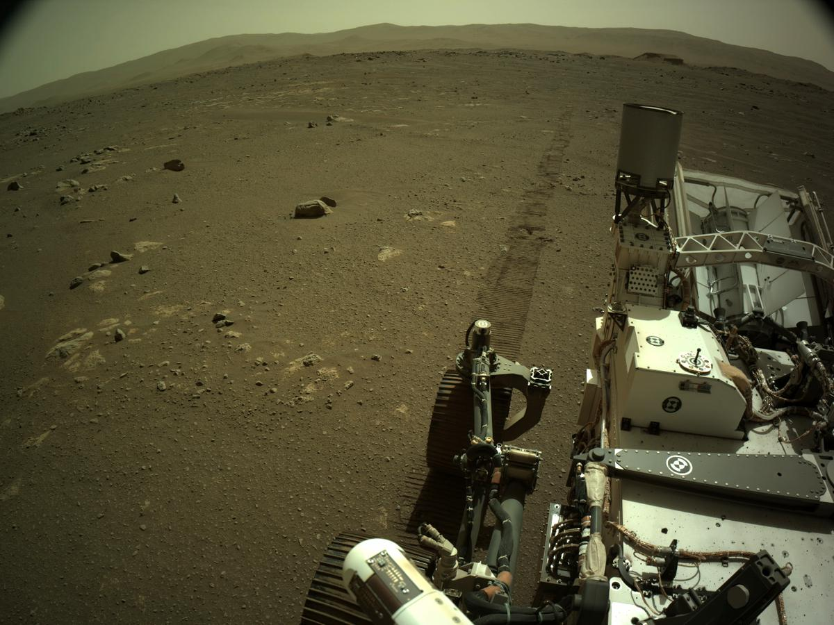 This image was taken by NAVCAM_LEFT onboard NASA's Mars rover Perseverance on Sol 16