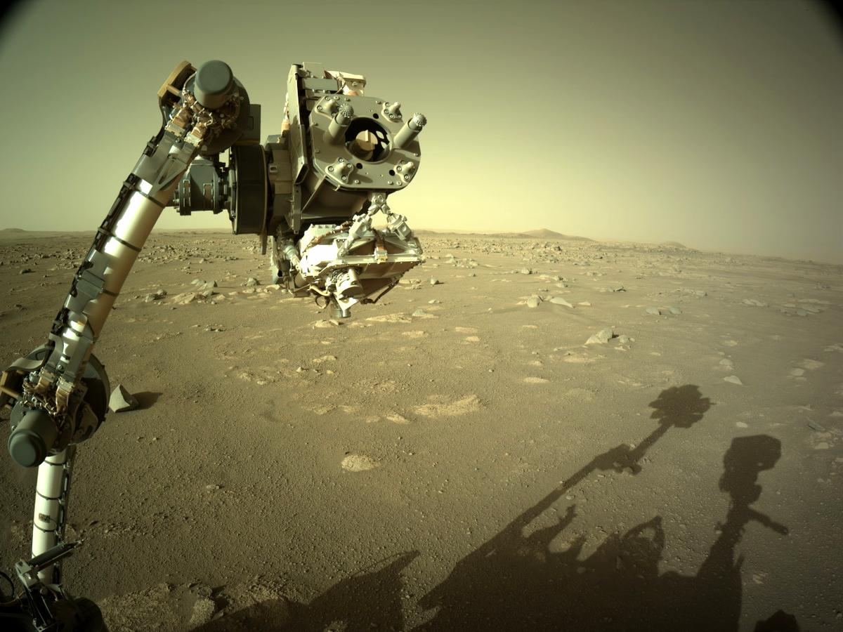 This image was taken by NAVCAM_RIGHT onboard NASA's Mars rover Perseverance on Sol 18