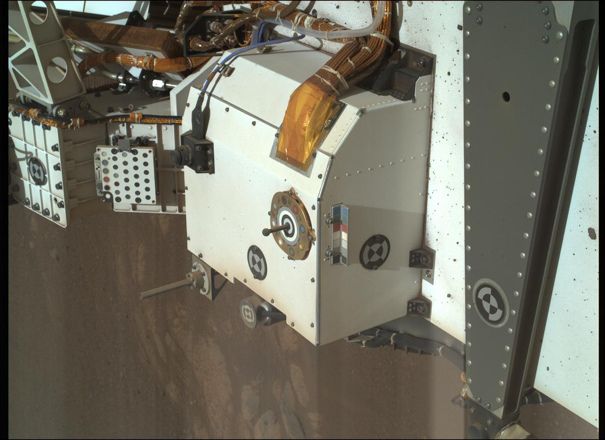 This image was taken by SHERLOC_WATSON onboard NASA's Mars rover Perseverance on Sol 26
