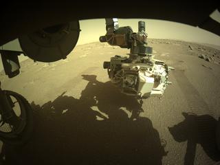 View image taken on Mars, Mars Perseverance Sol 30: Front Left Hazard Avoidance Camera (Hazcam)
