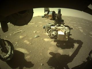 View image taken on Mars, Mars Perseverance Sol 39: Front Left Hazard Avoidance Camera (Hazcam)
