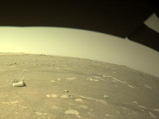 View image taken on Mars, Mars Perseverance Sol 43: Front Left Hazard Avoidance Camera (Hazcam)