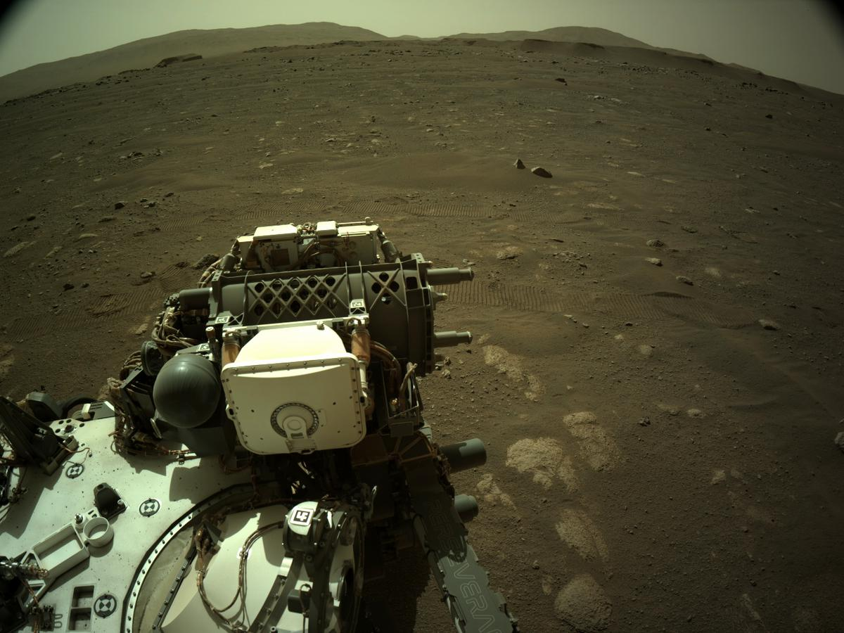 This image was taken by NAVCAM_RIGHT onboard NASA's Mars rover Perseverance on Sol 43