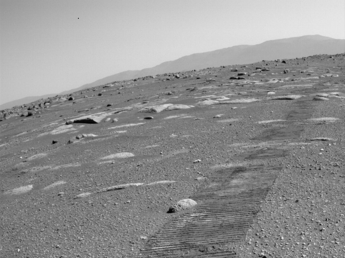 This image was taken by REAR_HAZCAM_LEFT onboard NASA's Mars rover Perseverance on Sol 43