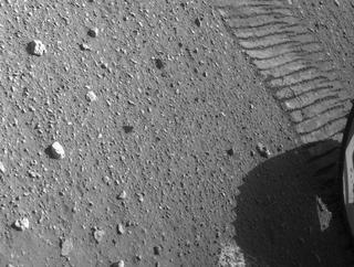View image taken on Mars, Mars Perseverance Sol 43: Rear Left Hazard Avoidance Camera (Hazcam)