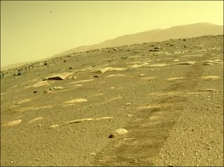 View image taken on Mars, Mars Perseverance Sol 43: Rear Left Hazard Avoidance Camera (Hazcam)
