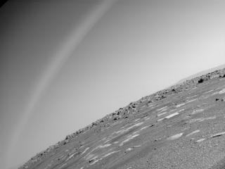 View image taken on Mars, Mars Perseverance Sol 43: Rear Right Hazard Avoidance Camera (Hazcam)