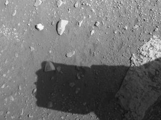 View image taken on Mars, Mars Perseverance Sol 43: Rear Right Hazard Avoidance Camera (Hazcam)