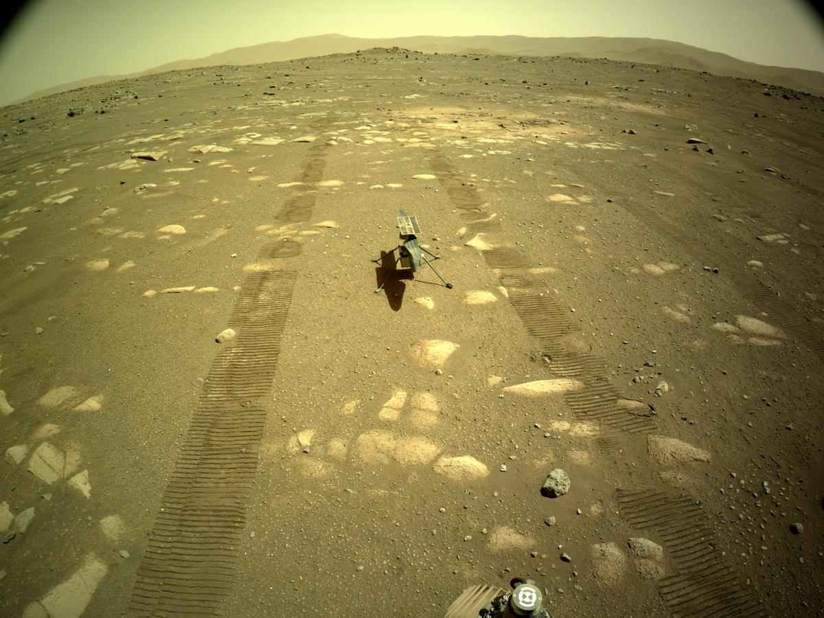 This image was taken by NAVCAM_LEFT onboard NASA's Mars rover Perseverance on Sol 44