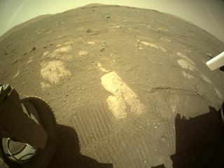 View image taken on Mars, Mars Perseverance Sol 44: Rear Left Hazard Avoidance Camera (Hazcam)
