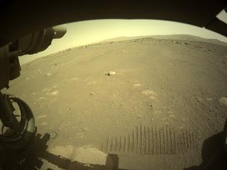 View image taken on Mars, Mars Perseverance Sol 47: Front Left Hazard Avoidance Camera (Hazcam)