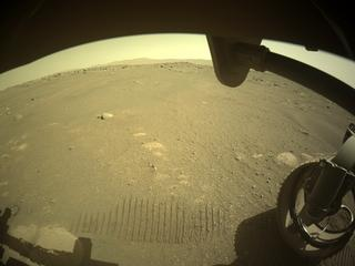 View image taken on Mars, Mars Perseverance Sol 47: Front Right Hazard Avoidance Camera (Hazcam)