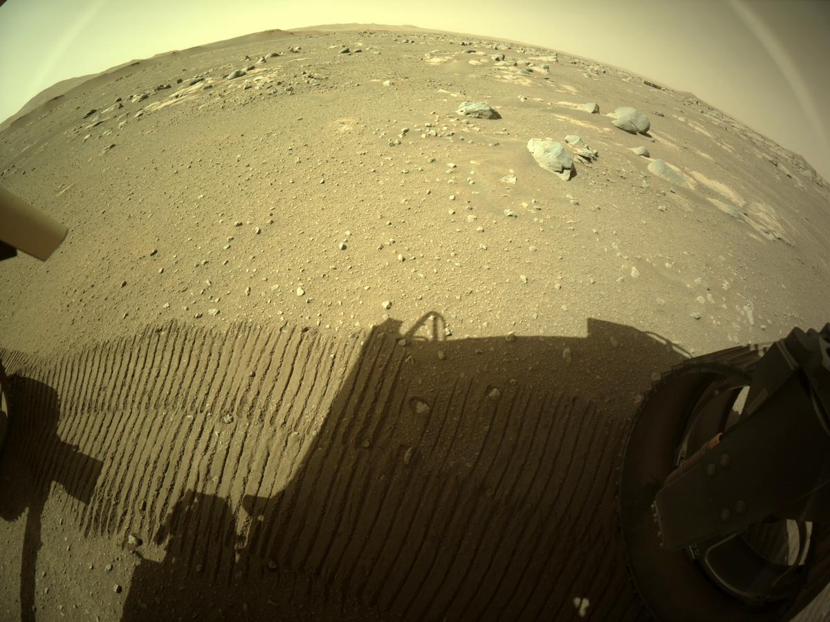 This image was taken by REAR_HAZCAM_RIGHT onboard NASA's Mars rover Perseverance on Sol 47