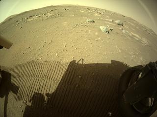 View image taken on Mars, Mars Perseverance Sol 47: Rear Right Hazard Avoidance Camera (Hazcam)