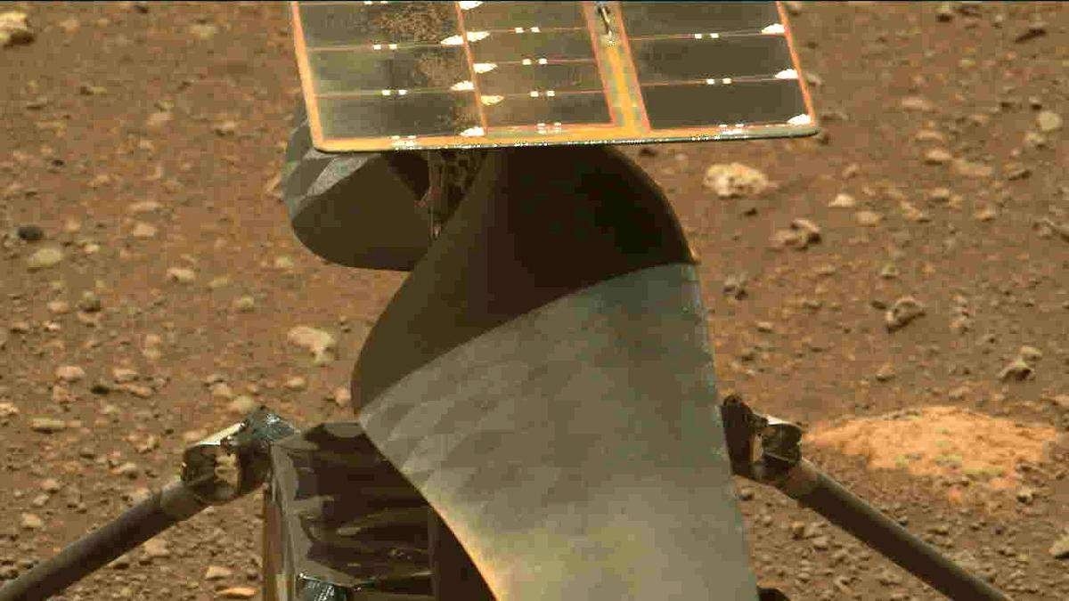 This image was taken by MCZ_LEFT onboard NASA's Mars rover Perseverance on Sol 47