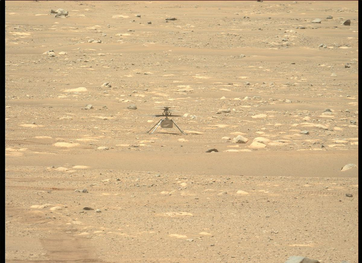 This image was taken by MCZ_LEFT onboard NASA's Mars rover Perseverance on Sol 51