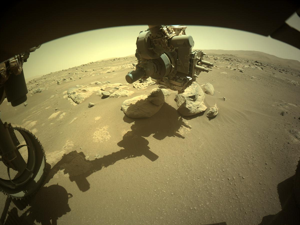 This image was taken by FRONT_HAZCAM_LEFT_A onboard NASA's Mars rover Perseverance on Sol 54