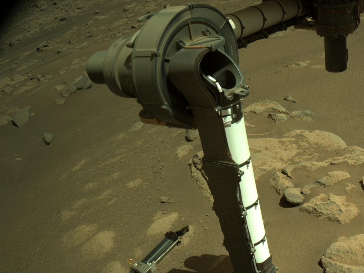 This image was taken by NAVCAM_LEFT onboard NASA's Mars rover Perseverance on Sol 54