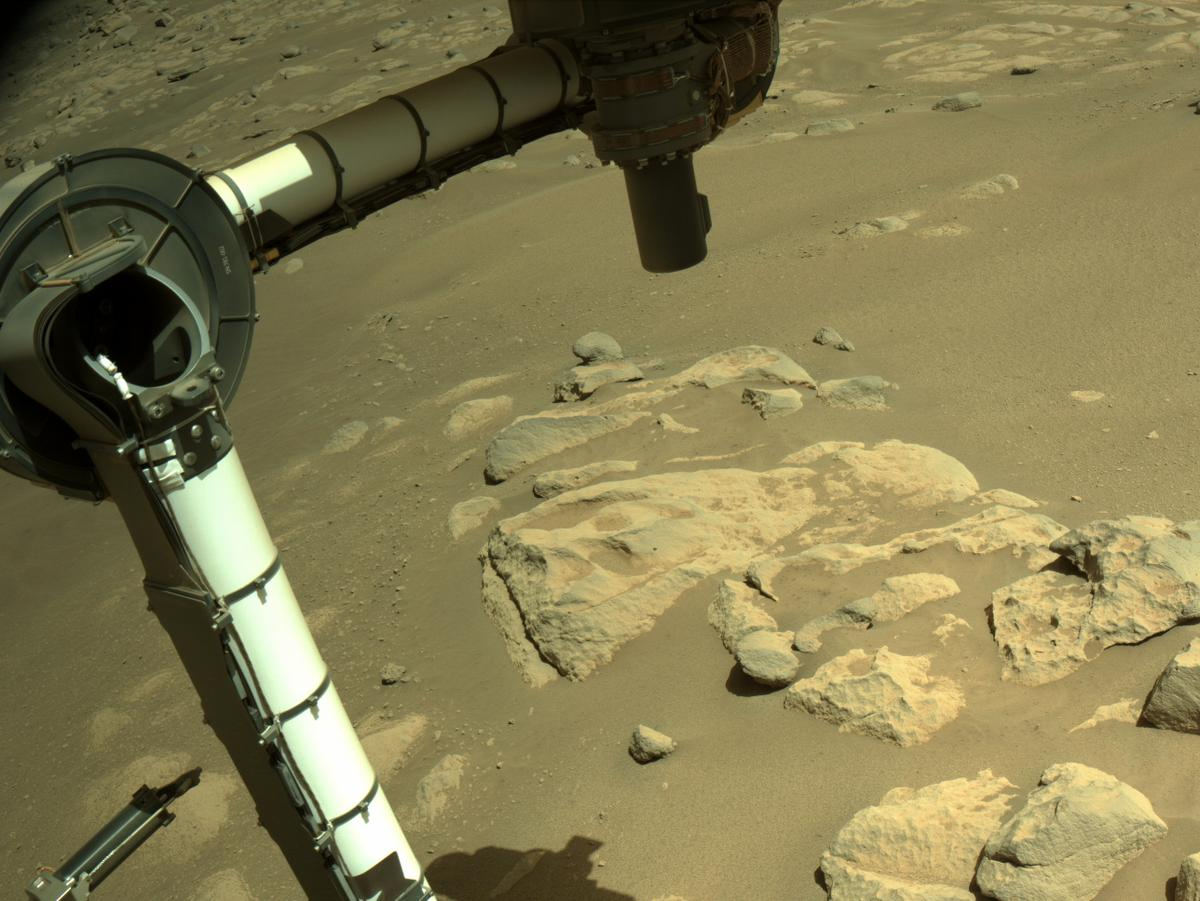 This image was taken by NAVCAM_RIGHT onboard NASA's Mars rover Perseverance on Sol 54