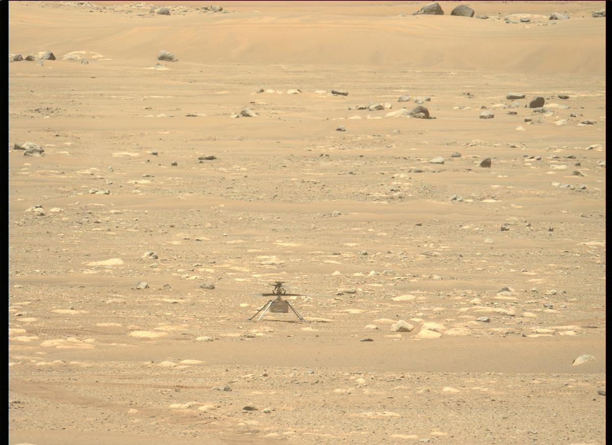 This image was taken by MCZ_LEFT onboard NASA's Mars rover Perseverance on Sol 55