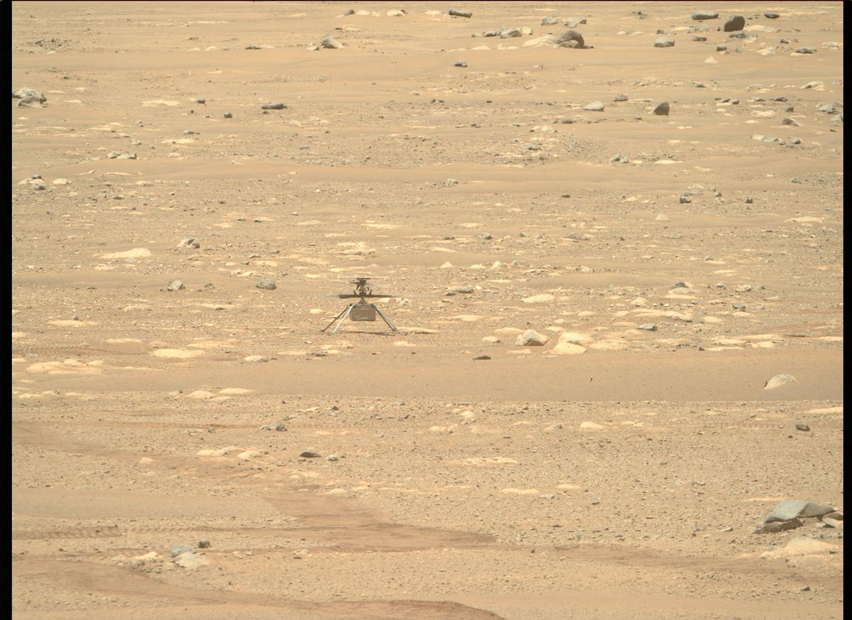 This image was taken by MCZ_RIGHT onboard NASA's Mars rover Perseverance on Sol 55