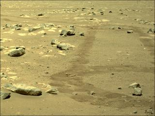 View image taken on Mars, Mars Perseverance Sol 58: Left Navigation Camera (Navcam)