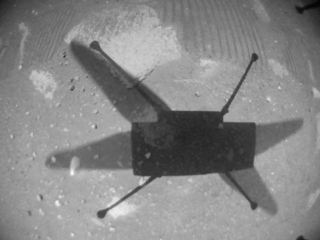 This image was taken by HELI_NAV onboard NASA's Mars rover Perseverance on Sol 64