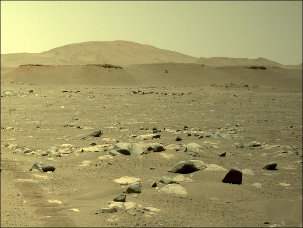 This image was taken by NAVCAM_LEFT onboard NASA's Mars rover Perseverance on Sol 64