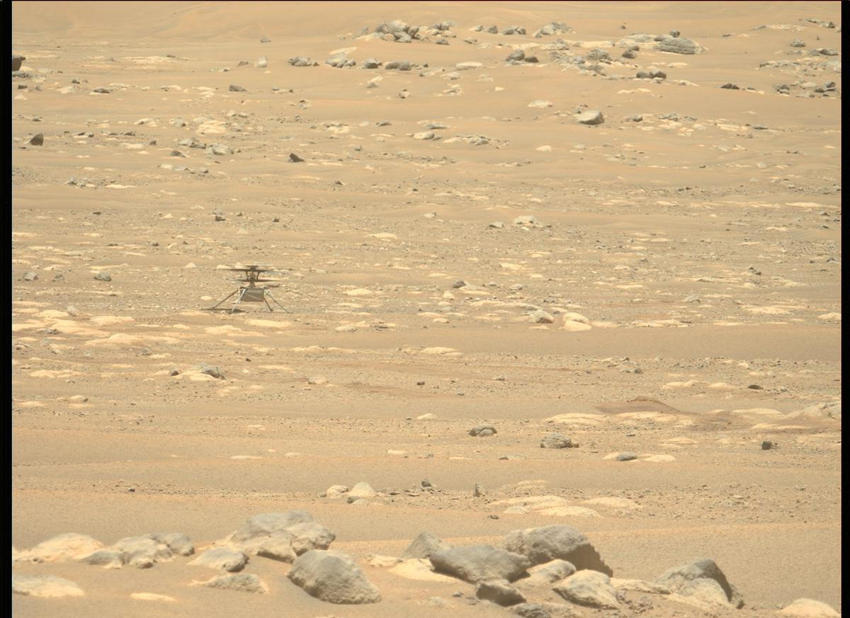 This image was taken by MCZ_LEFT onboard NASA's Mars rover Perseverance on Sol 68
