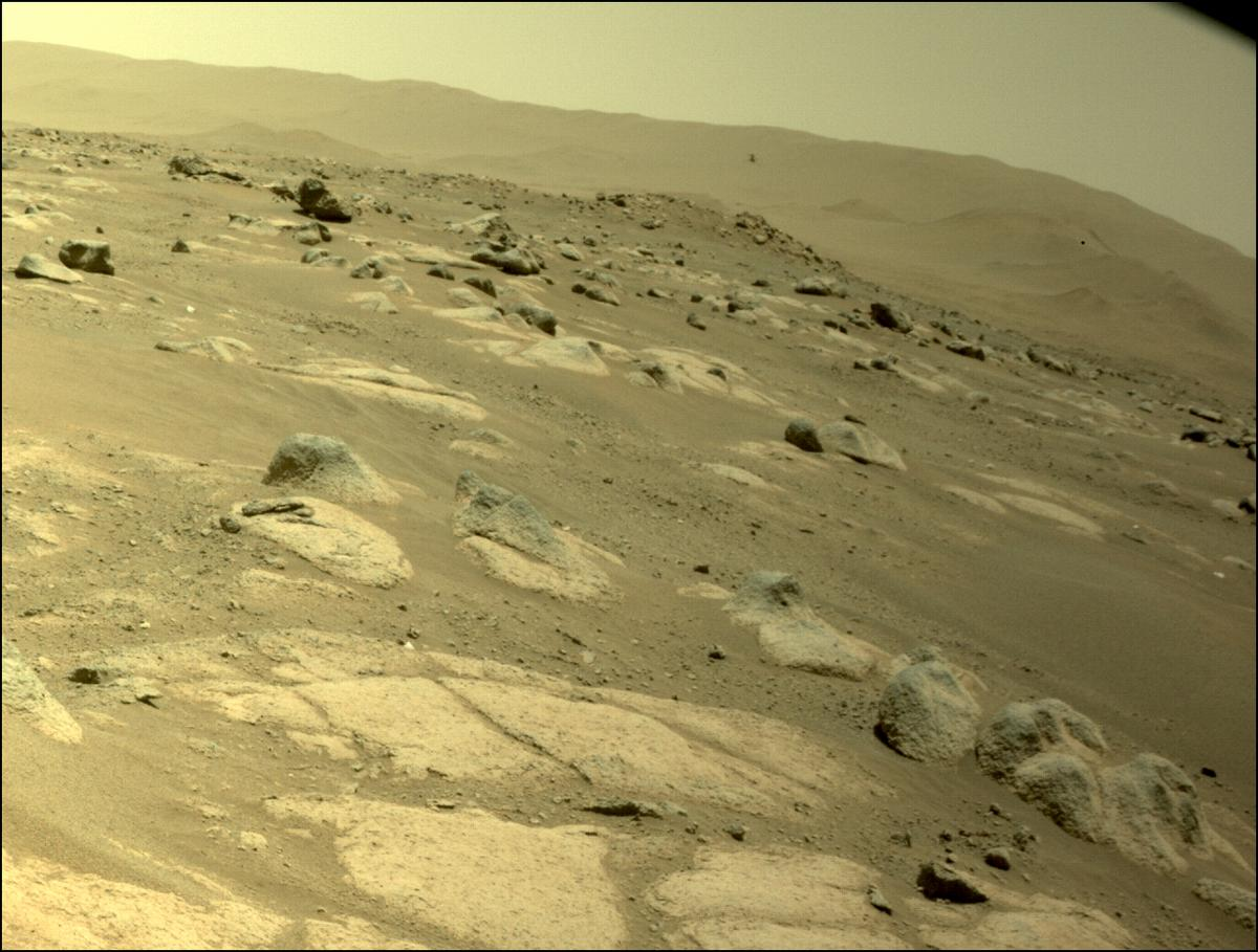 This image was taken by FRONT_HAZCAM_LEFT_A onboard NASA's Mars rover Perseverance on Sol 69
