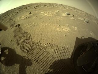 View image taken on Mars, Mars Perseverance Sol 72: Rear Right Hazard Avoidance Camera (Hazcam)