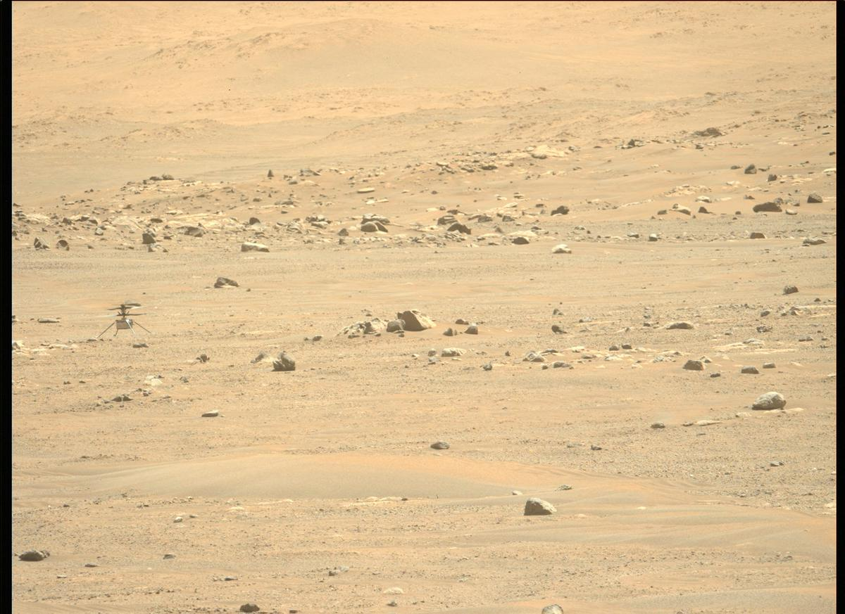 This image was taken by MCZ_LEFT onboard NASA's Mars rover Perseverance on Sol 76