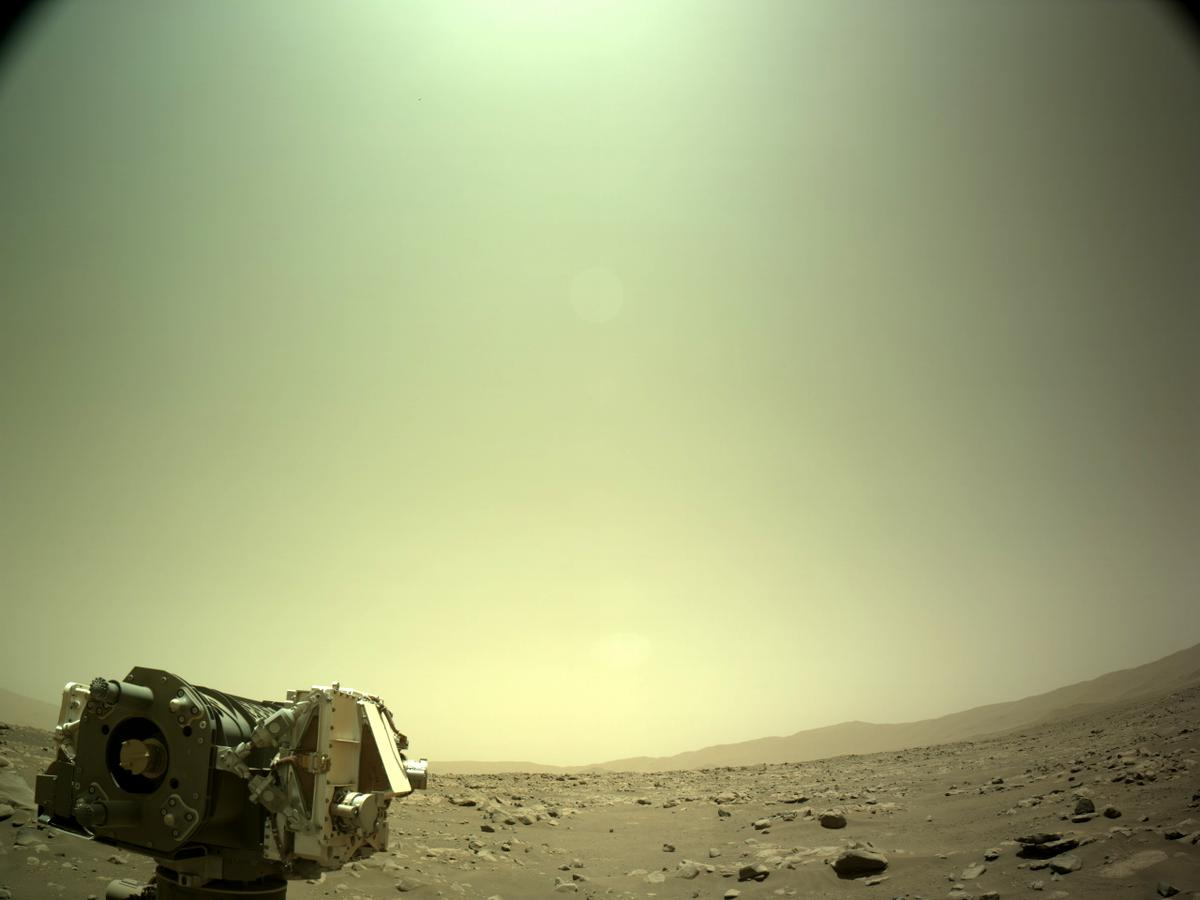 This image was taken by NAVCAM_LEFT onboard NASA's Mars rover Perseverance on Sol 77
