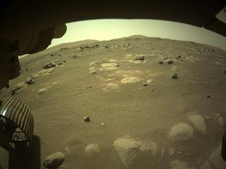 View image taken on Mars, Mars Perseverance Sol 84: Front Left Hazard Avoidance Camera (Hazcam)