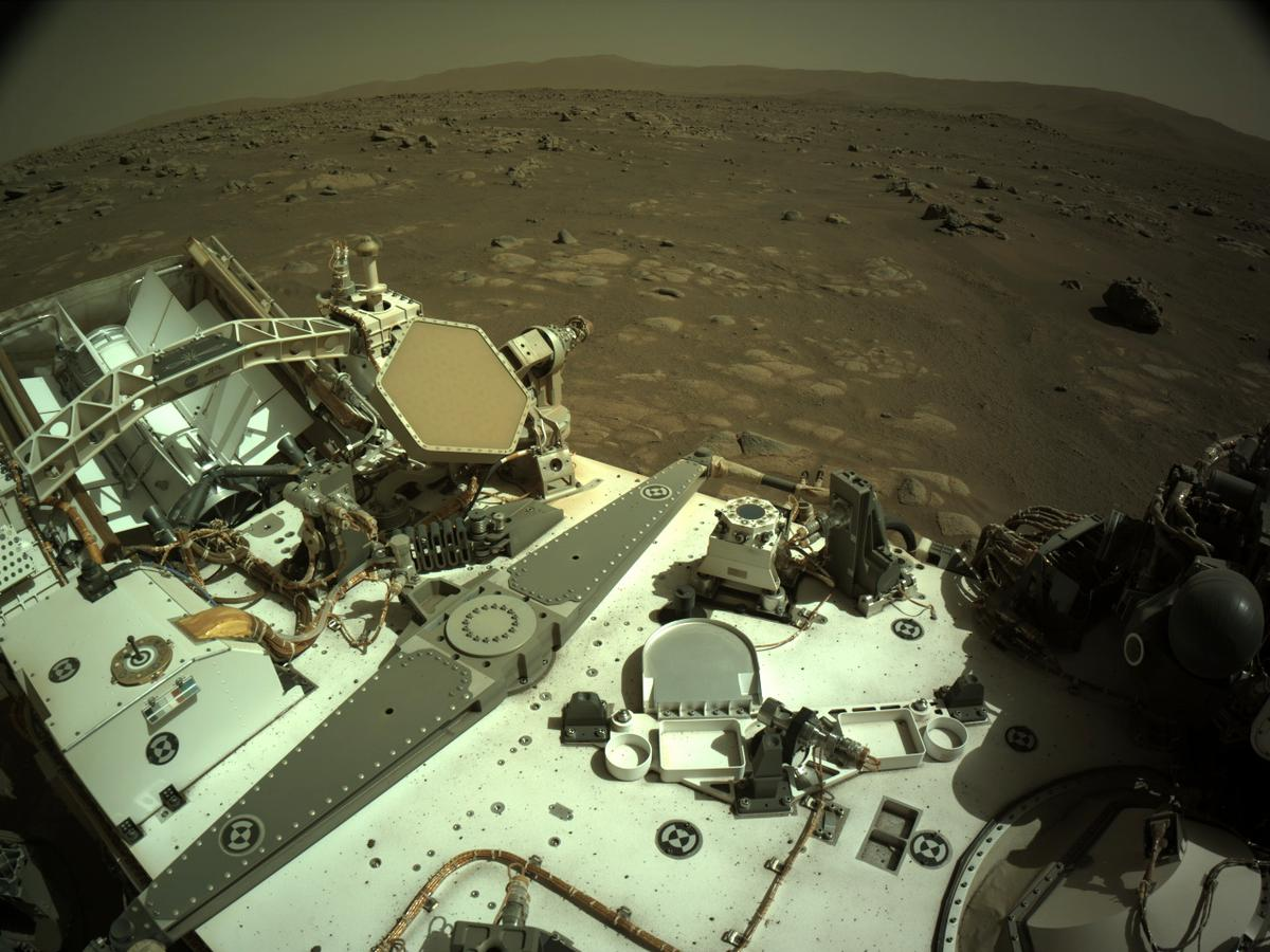This image was taken by NAVCAM_LEFT onboard NASA's Mars rover Perseverance on Sol 84