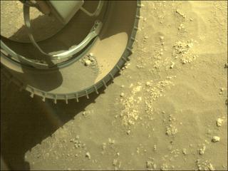 View image taken on Mars, Mars Perseverance Sol 91: Front Left Hazard Avoidance Camera (Hazcam)