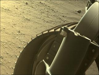 View image taken on Mars, Mars Perseverance Sol 91: Front Right Hazard Avoidance Camera (Hazcam)