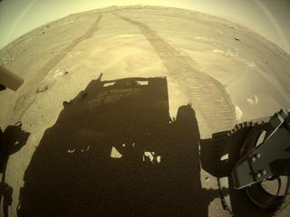 View image taken on Mars, Mars Perseverance Sol 102: Rear Right Hazard Avoidance Camera (Hazcam)