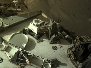 View image taken on Mars, Mars Perseverance Sol 107: Right Navigation Camera (Navcam)
