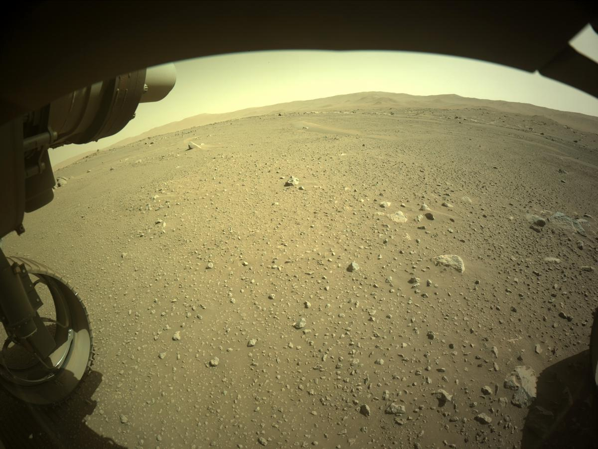This image was taken by FRONT_HAZCAM_LEFT_A onboard NASA's Mars rover Perseverance on Sol 110