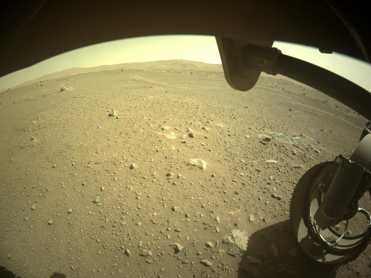 This image was taken by FRONT_HAZCAM_RIGHT_A onboard NASA's Mars rover Perseverance on Sol 110
