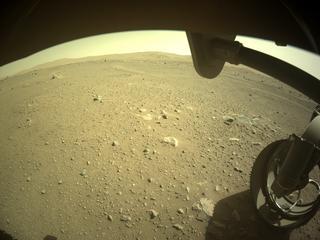 View image taken on Mars, Mars Perseverance Sol 110: Front Right Hazard Avoidance Camera (Hazcam)