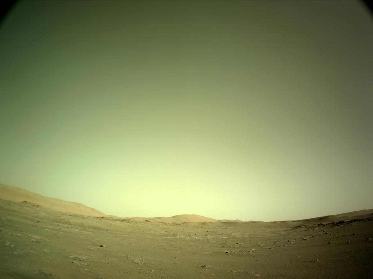 This image was taken by NAVCAM_LEFT onboard NASA's Mars rover Perseverance on Sol 110
